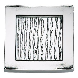 Primitive Square Knob 1 1/2 Inch - Polished Chrome Product Image