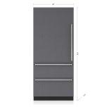 "SUB-ZERO36"" Designer Over-and-Under Refrigerator Internal Dispenser - Panel Ready"