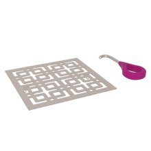 Satin Nickel Weave Decorative Drain Cover