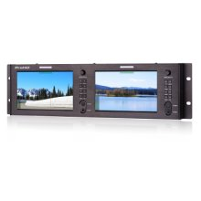 DUAL 7-IN FULL HD 4K-HDMI RACK MONITOR