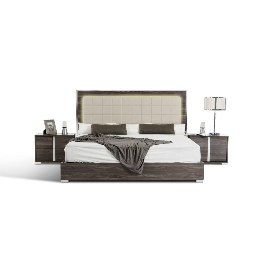 Modrest San Marino Modern Grey Bed