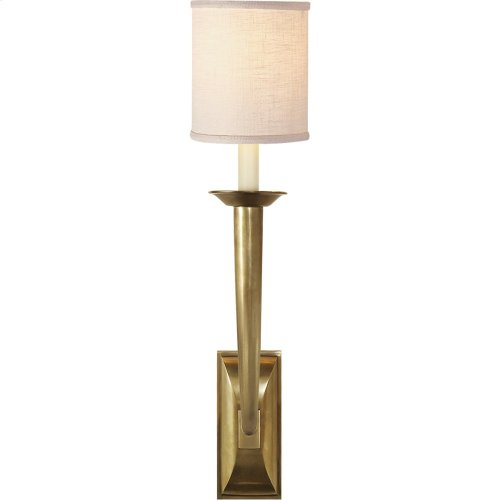Visual Comfort S2020HAB-L Studio French Deco Horn 1 Light 5 inch Hand-Rubbed Antique Brass Decorative Wall Light
