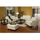Samuel Transitional White Three-piece Living Room Set Product Image