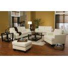 Samuel Transitional White Three-piece Living Room Set Product Image
