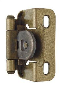 Self-closing, Single Demountable, Partial Wrap 1/2in(13mm) Overlay Hinge