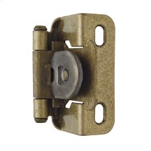 Self-closing, Single Demountable, Partial Wrap 1/2 In (13 Mm) Overlay Hinge