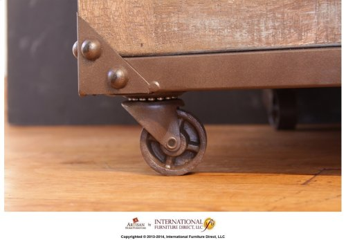 Writing Desk w/Wood Top & Iron Base*