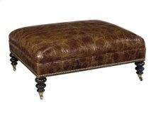 Cooper Leather Cocktail Ottoman