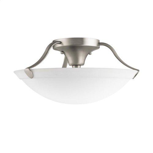3 Light Semi Flush Ceiling Light NI