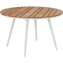 Essentials Dining Round Dining Table with Teak Top