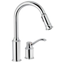 Aberdeen chrome one-handle pulldown kitchen faucet