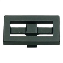 Nobu Rectangle Knob 1 3/4 Inch - Matte Black
