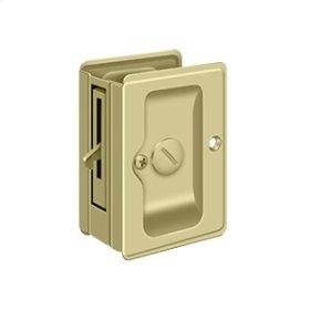 "HD Pocket Lock, Adjustable, 3 1/4""x 2 1/4"" Privacy - Unlacquered Brass"