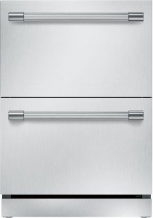 24-Inch Under-Counter double Drawer Refrigerator