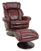 Lumina 15-8000 Pedestal Chair and Ottoman in Traverse-burgundy 3481-25 Product Image