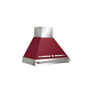 Bertazzoni36 Wallmount Canopy and Base Hood, 1 motor 600 CFM Matt Burgundy