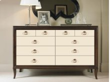 Dresser With Mirrored Drawer Fronts