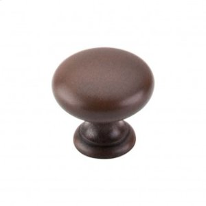 Mushroom Knob 1 1/4 Inch - Patina Rouge