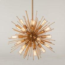 Luminaire Burst Metal Brass Pendant