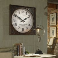 Warehouse Wall Clock with Grill Product Image