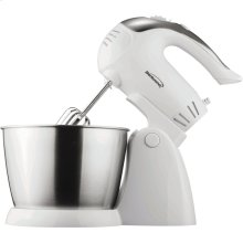 5-Speed + Turbo Electric Stand Mixer with Bowl (White)