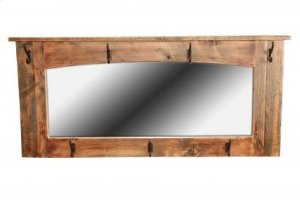 Reclaimed Wall Mirror with hooks