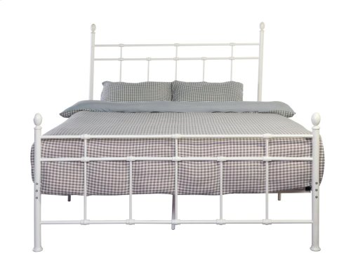 Emerald Home Alexandria Metal Bed White B204-10hbfbrwht