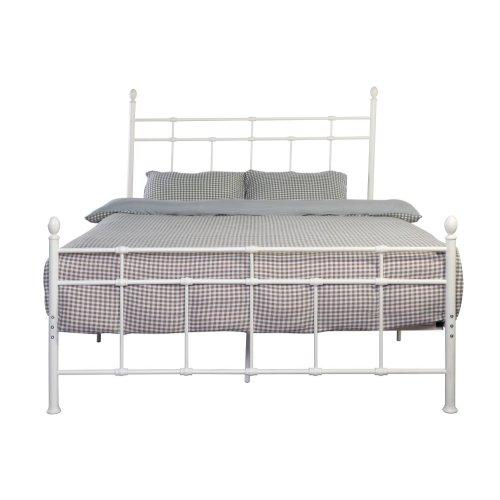 Emerald Home Alexandria Metal Bed White B204-08hbfbrwht