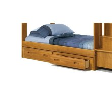 Heartland Under Bed Two Drawer Storage with options: Honey Pine