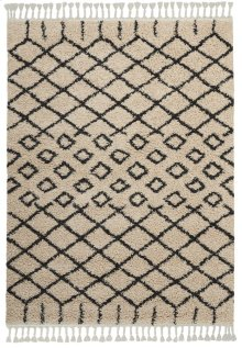 Moroccan Shag Mrs01 Cream Rectangle Rug 5'3'' X 7'11''