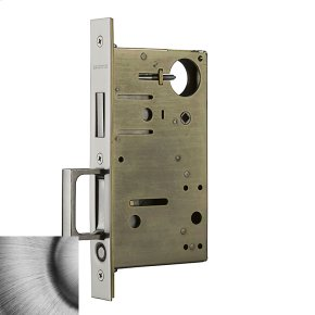 Matte Antique Nickel 8602 Pocket Door Lock with Pull