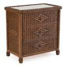 Wicker 3 Drawer Chest Coffee Bean 3703 Product Image
