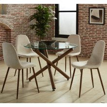 Rocca/Lyna 5pc Dining Set, Beige