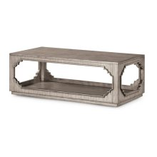 Vogue Rectangular Cocktail Table with Casters