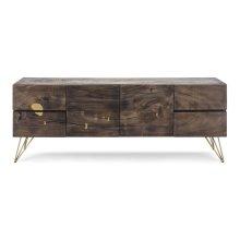Contemplar Sugar Wood and Brass Sideboard