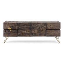 Contemplar Sugar Wood and Brass Sideboard