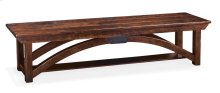 "B&O Railroade Trestle Bridge Dining Bench, 72""w, Wood Seat, Character Cherry Olde World #35-B2"
