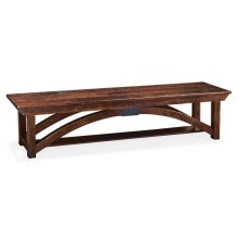 B&O Railroade Trestle Bridge Dining Bench, Wood Seat
