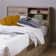 Bookcase Headboard with Storage - 39''