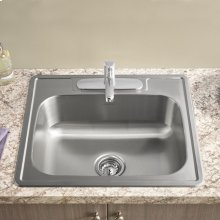 Colony Top Mount ADA 25x22 Single Bowl Stainless Steel 3-Hole Kitchen Sink  American Standard - Stainless Steel