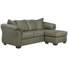 Signature Design by Ashley Darcy Sofa Chaise in Sage Microfiber [FSD-1109SOFCH-SAG-GG]