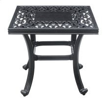 Emerald Home Versailles Outdoor Square End Table-onyx-cast Aluminum-ot1045-04