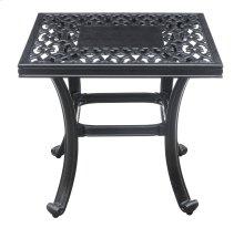 Emerald Home Versailles Outdoor Square End Table-onyx-cast Aluminum-ot1045-04