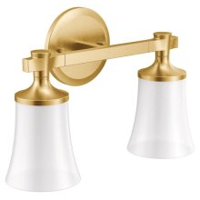 Flara brushed gold bath light