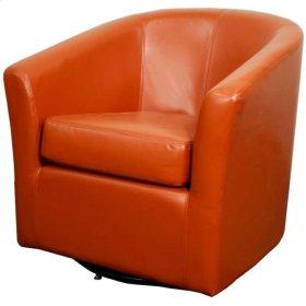 Hayden SWIVEL Bonded Leather Chair, Pumpkin