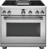 "36"" All Gas Professional Range with 4 Burners and Griddle (Liquid Propane)"