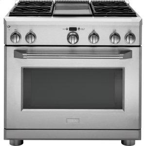"GEMONOGRAMMonogram 36"" Dual-Fuel Professional Range with 4 Burners and Griddle (Natural Gas)"