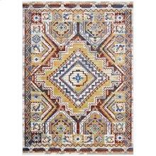 Florita Distressed Southwestern Aztec 4x6 Area Rug in Multicolored