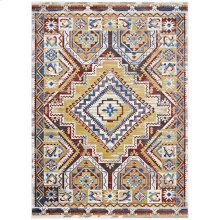 Florita Distressed Southwestern Aztec 4x6 Area Rug in Multicolored