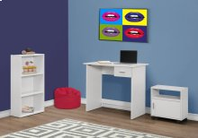 COMPUTER DESK - 3PCS SET / WHITE DESK / BOOKCASE / CART